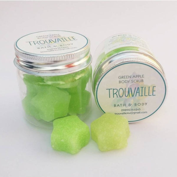 Green Apple Scrub Stars