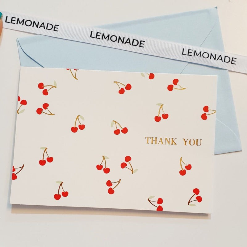 Greeting Card - Thank You - Cherry Blossom