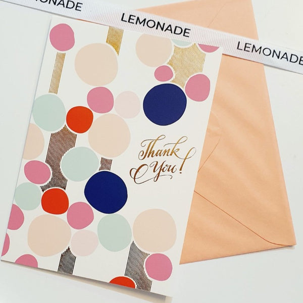 Greeting Card - Thank You - Colour Pop