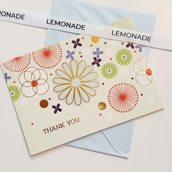 Greeting Card - Thank You - Floral Mint