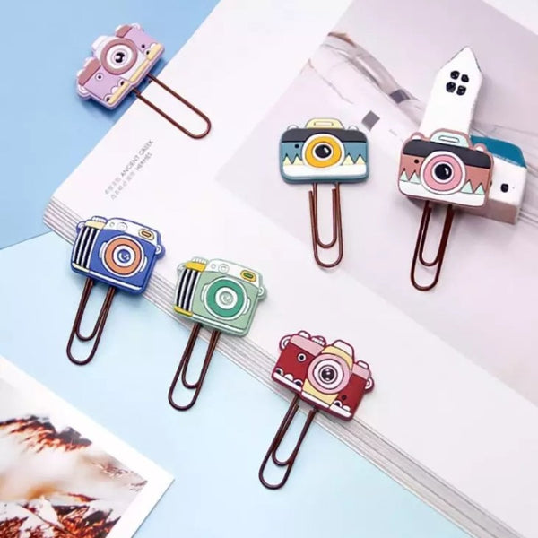 Bookmark/Paper Clips Set - Camera - Set of 3