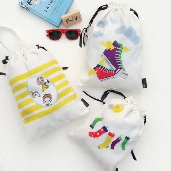 KIDS ACCESSORY BAGS (SUNSHINE ON CLOUDS) - Pack of 3