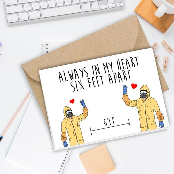 Six Feet Apart - Greeting Card