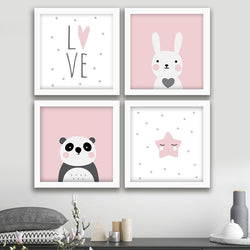 Love Panda - Photo Frame Set of 4