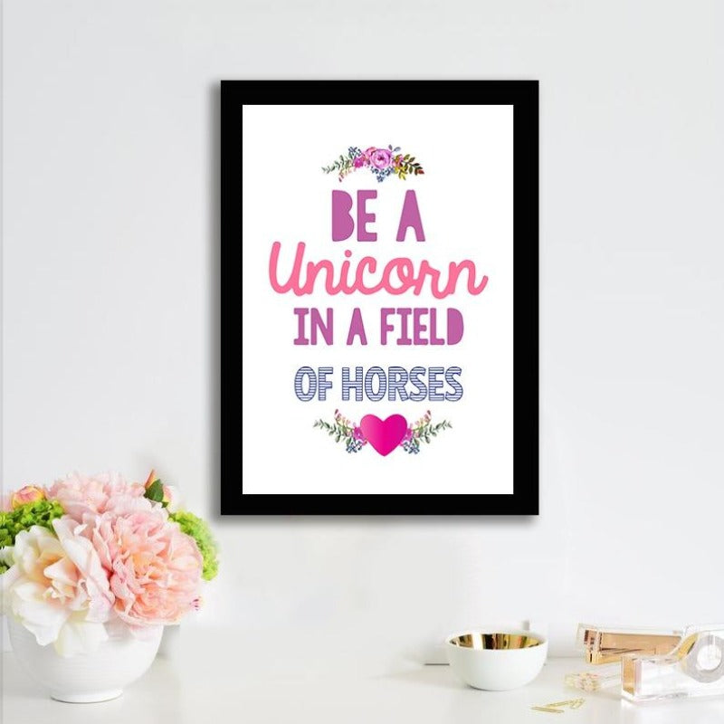 Be A Unicorn - Photo Frame