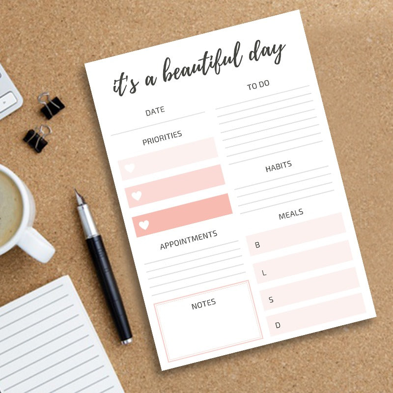 It's a beautiful day -  Daily Planner