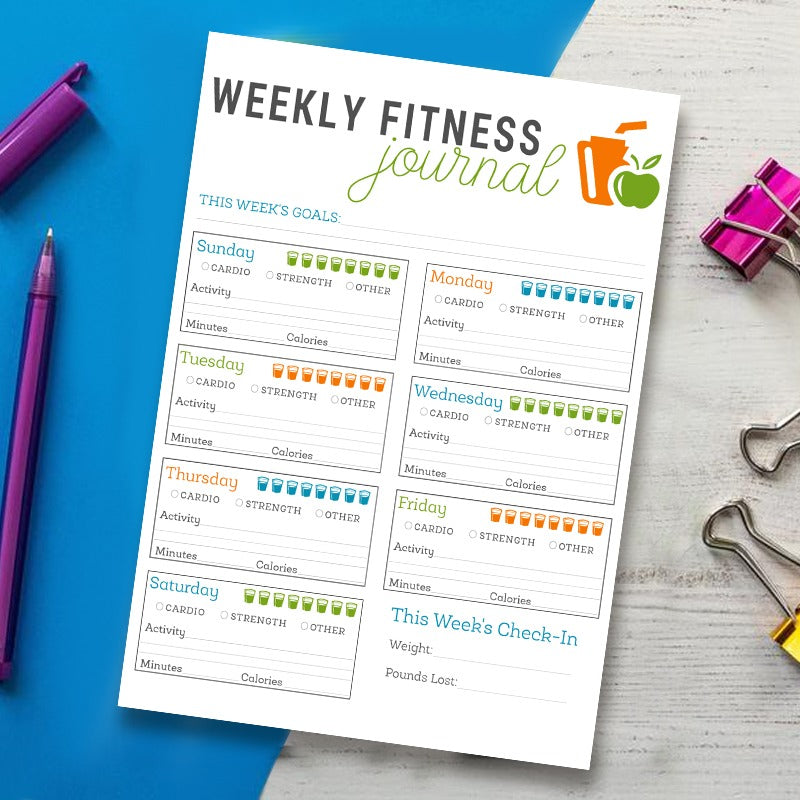 Weekly Fitness Journal