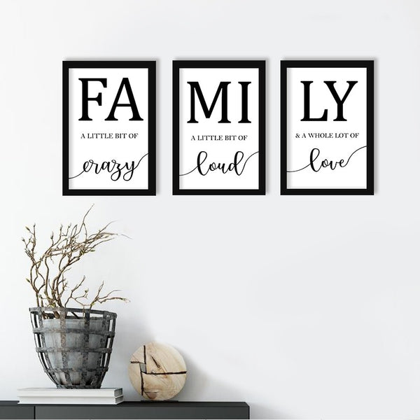 Family - Photo Frame Set of 3