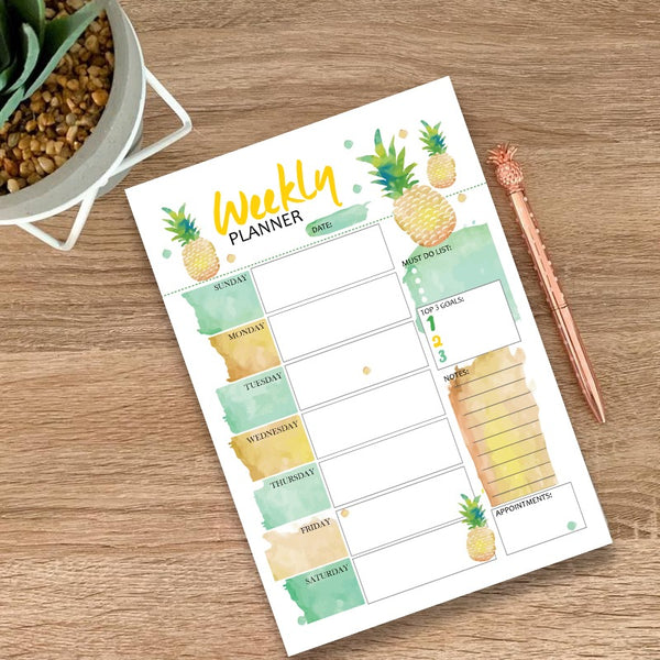 Tropical Weekly Planner