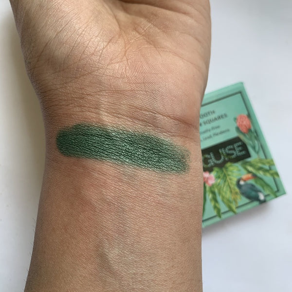 Satin Smooth Eyeshadow Squares- Satin Green Fern 216