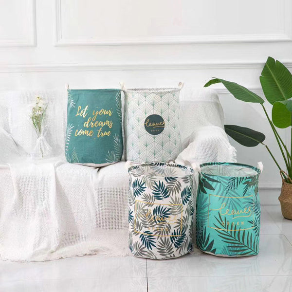 Tropical Print Laundry Basket