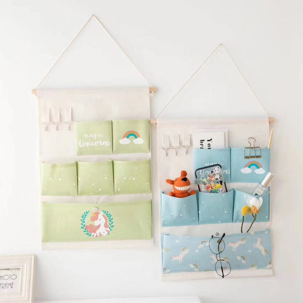 Unicorn Hanging Organizer ( 6 Pockets )