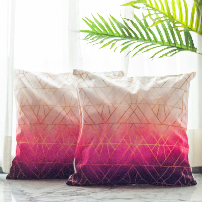 Multi Zig Zag Cushion Covers (Set of 2)