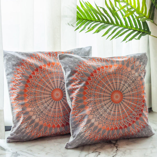 Mandala Print Cushion Covers (Set of 2)