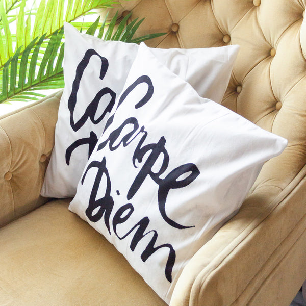 Carpe Diem Cushion Covers (Set of 2)