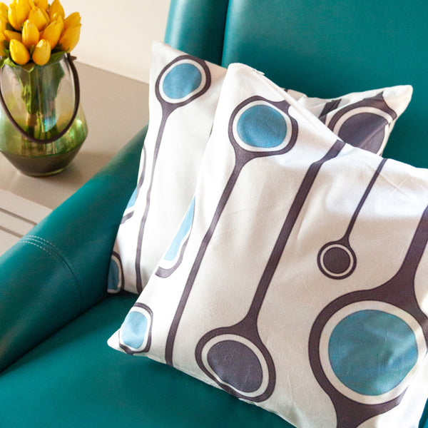 Concentric Circles Cushion Covers (Set of 2)