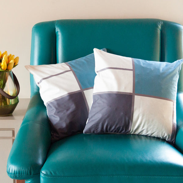 Quadrant Print Cushion Covers (Set of 2)