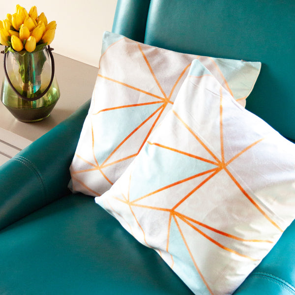Abstract Print Cushion Covers (Set of 2)