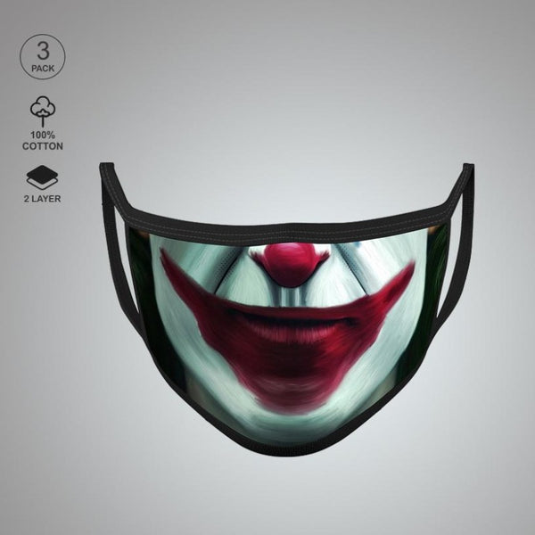 Pack of Three: Joker Face Mask