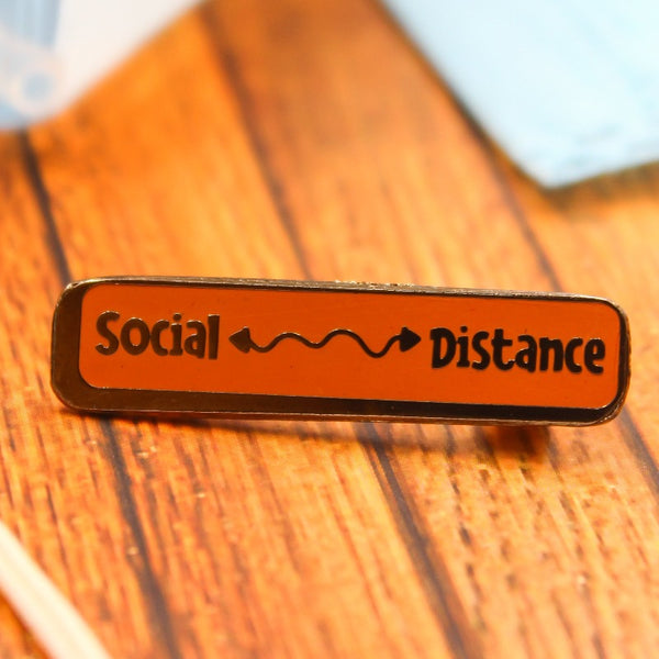Social Distancing Lapel Pin