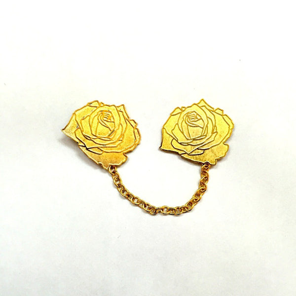 The Double Flower Collar Pin