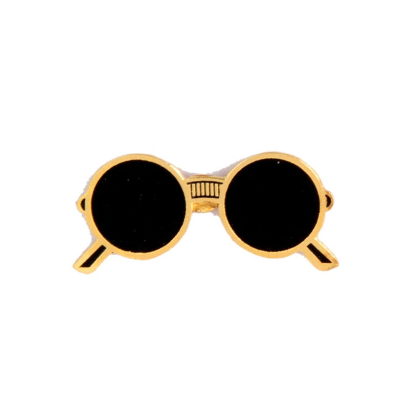 The Lennon Black Glare Shades Pin