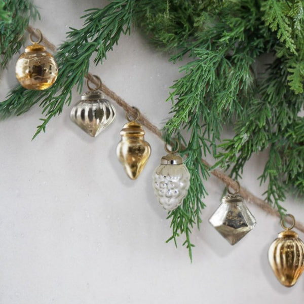Mercury Glass Assorted Christmas Photo Garland