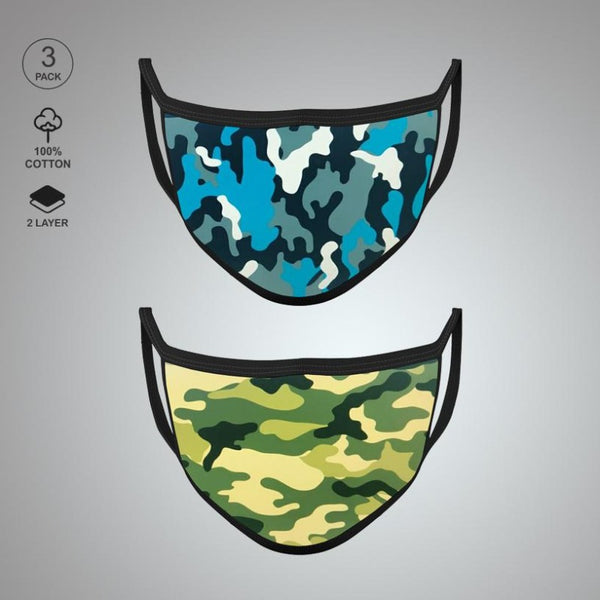 Pack of Two: Military Face Mask