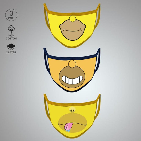 Pack of Three: Simpson Face Mask