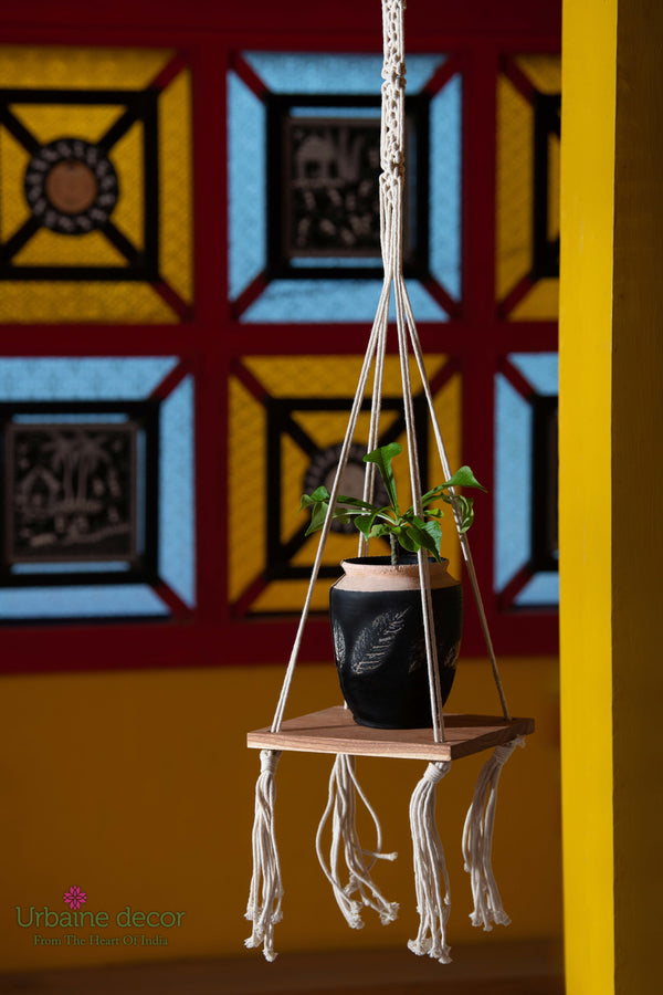 Macrame Hanging Shelf/ Plant Holder