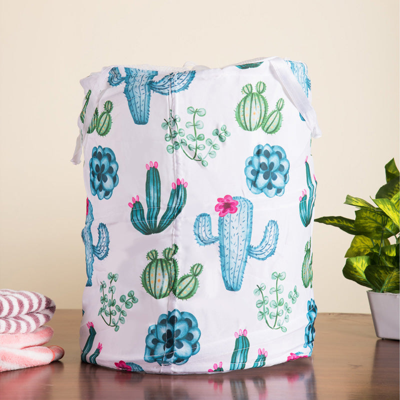 Cactus Print Collapsible Laundry Basket