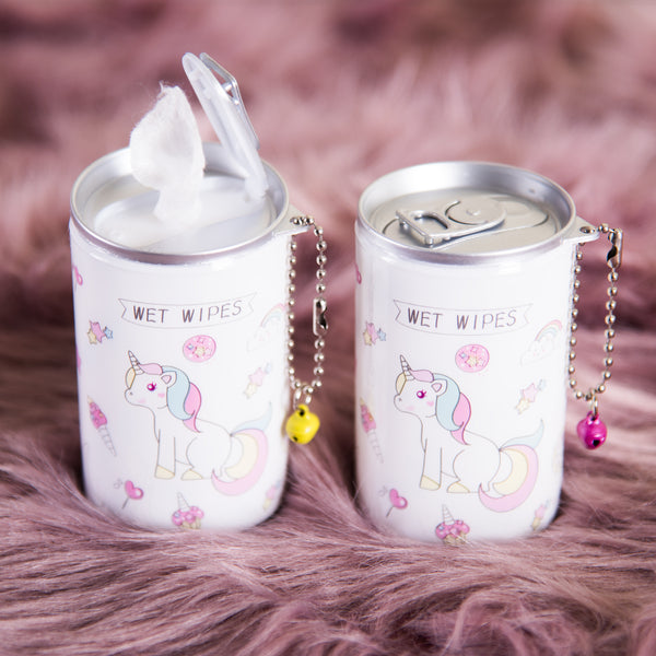 Unicorn Wet Wipe Tin Can (Set of 2)