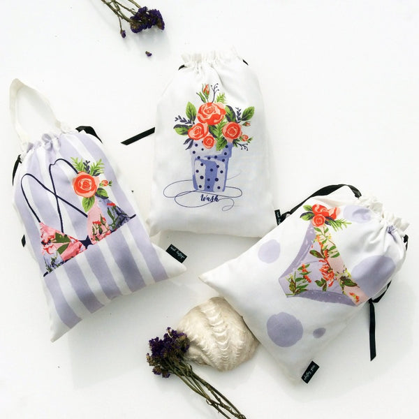 LINGERIE BAGS (JUNGLE BLOOM) - Pack of 3