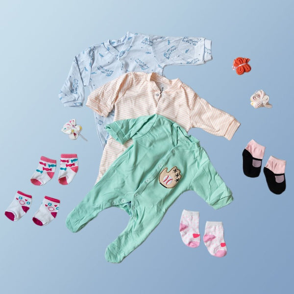 Baby Baseball Glove Print Romper Set - ( Pack of 10 )