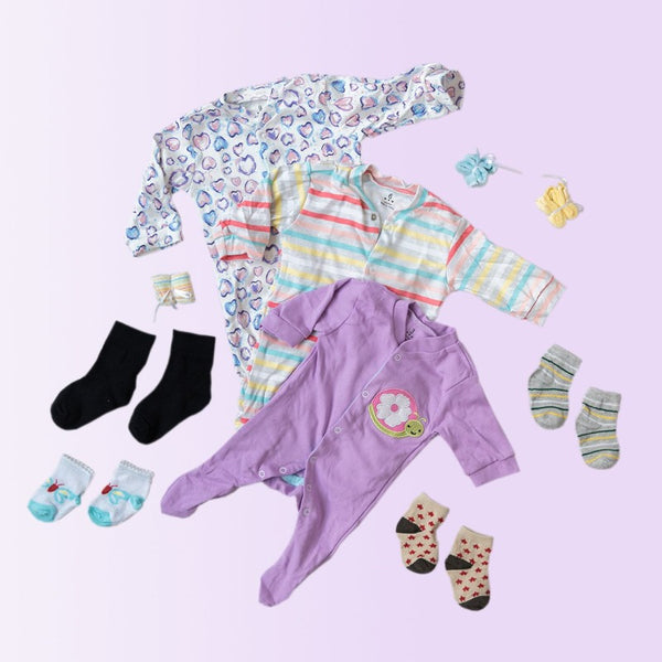 Baby Cute Snail Print Romper Set - ( Pack of 10 )