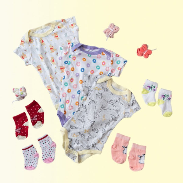 Baby Pooh Print Romper Set - ( Pack of 10 )