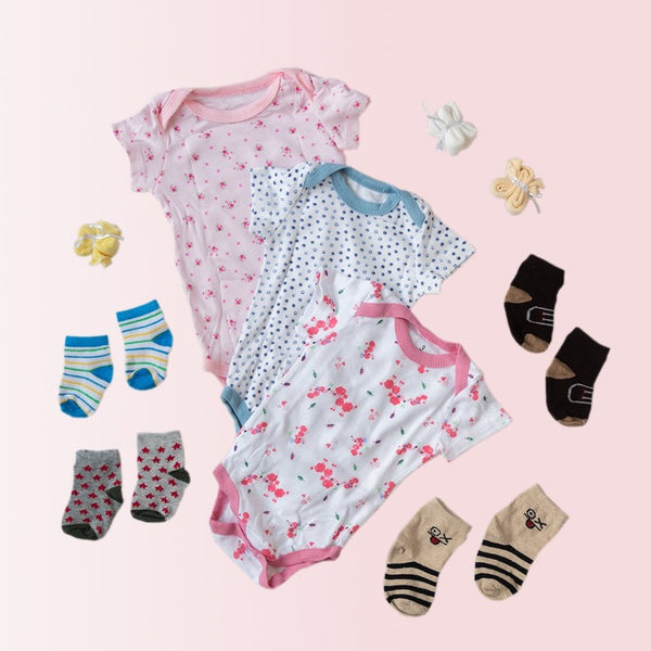 Baby Poodle Print Romper Set - ( Pack of 10 )