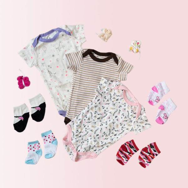 Baby Brown Stripes Print Romper Set - ( Pack of 10 )