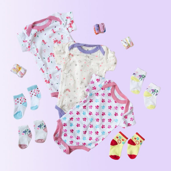 Baby Unicorn Print Romper Set - ( Pack of 10 )