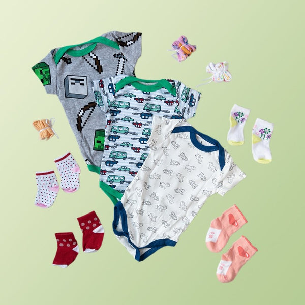 Baby Cars Print Romper Set - ( Pack of 10 )