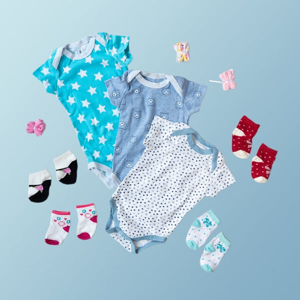 Baby Bear & Stars Print Romper Set - ( Pack of 10 )