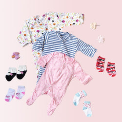 Baby Pink Stars Print Romper Set - ( Pack of 10 )