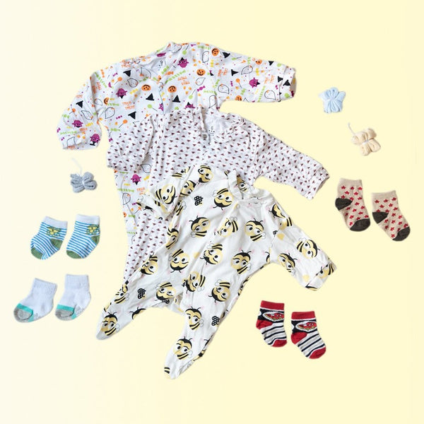Baby Halloween Print Romper Set - ( Pack of 10 )