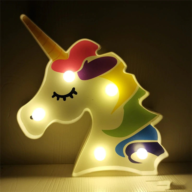 Colorful Unicorn - Marquee Light