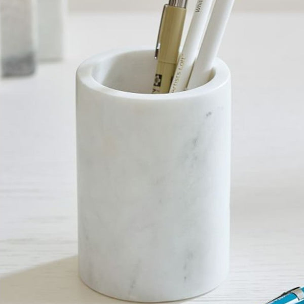 White Marble Pen Stand