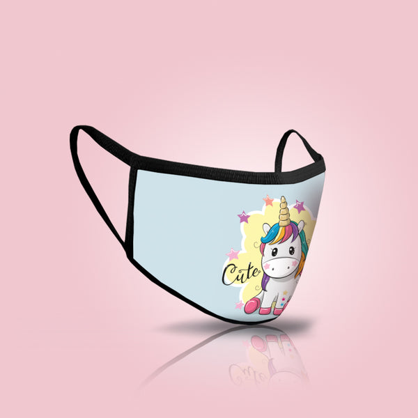 Pack of Three: Mask For Kids - Cute Unicorn Face