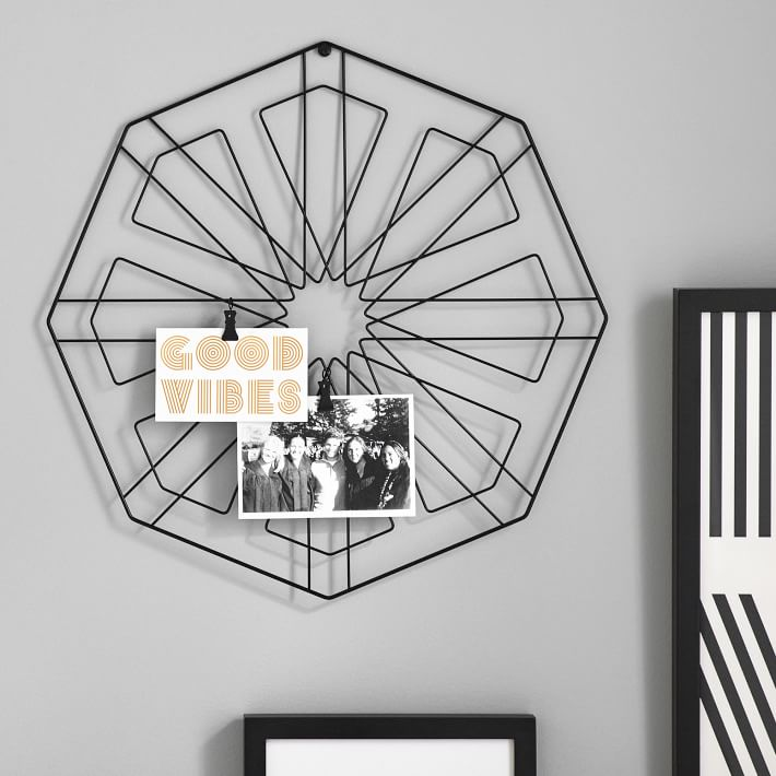 Octagonal Photo Holder Wall Grid
