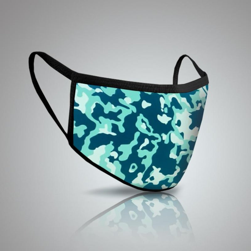 Pack of Two: Camouflage Face Mask