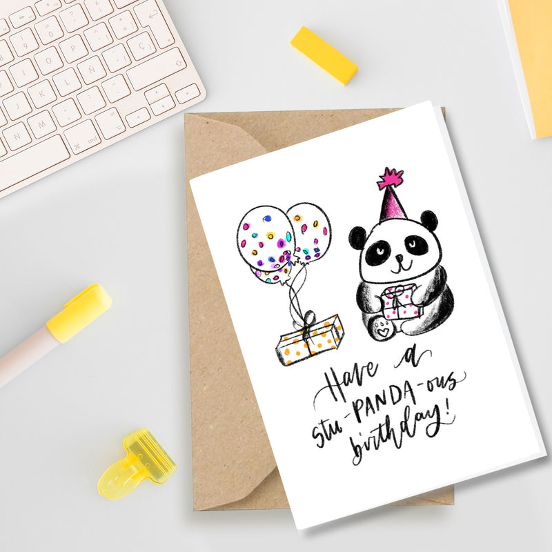 Have a Stu-Panda-ous Birthday - Greeting Card