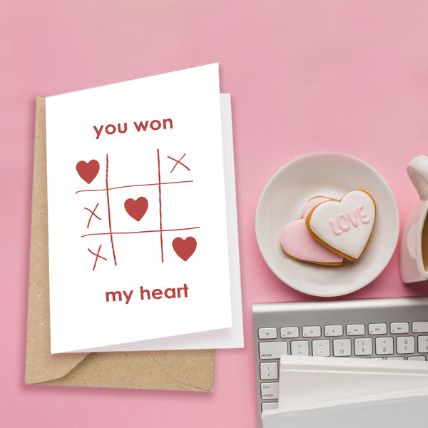 You Won My Heart  - Greeting Card